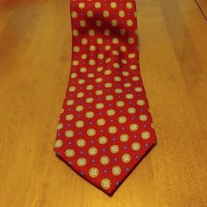Brooks Bothers Basic Silk red tie